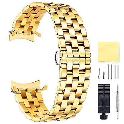 BINLUN-Herren-Edelstahl-Uhren-Armbnder-Ersatz-mit-Geradem-und-Gebogenem-Ende-Mehrfarbig-18mm-19mm-20mm-21mm-22mm-24mm