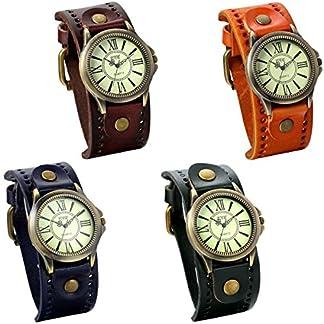 JewelryWe-Damen-Armbanduhr-Vintage-Casual-Analog-Quarz-Leder-Band-Uhr-mit-rmischen-Ziffern-Zifferblatt