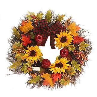 45-cm-Sonnenblume-Maple-Leaf-Kranz-mit-Bowknot-Berry-Innenwand-Dekor-Ornamente-fr-den-Herbst-perfekt-fr-Thanksgiving-Christmas-Outdoor-Display