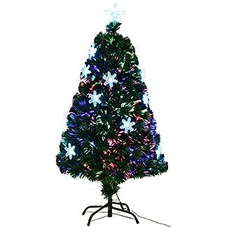 COSTWAY-LED-Weihnachtsbaum-knstlicher-Tannenbaum-Christbaum-beleuchtet-120150180210cm-grn-mit-Glasfaser-Farbwechsel
