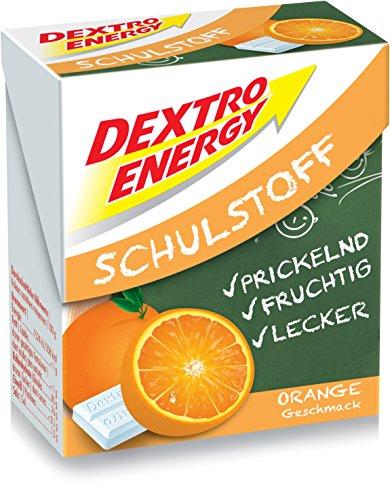 Dextro Energy Schulstoff Orange/Mini Traubenzucker-Täfelchen mit schnell verfügbarer Glucose und Prickel-Spaß, 6er Pack (6 x 50 g)