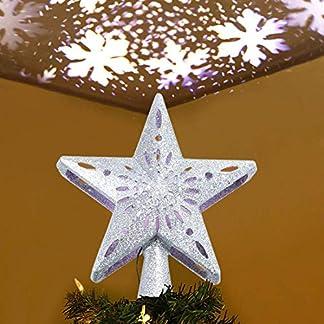 BDSMAGE-Weihnachtsbaumspitze-Stern-LED-Drehen-Schneeflocke-3D-Hohl-Star-Beamer-Lichter-fr-Feiertags-Dekorationen-Wohnkultur-Weihnachten-Feiertags-Geburtstags-Hochzeitsfest