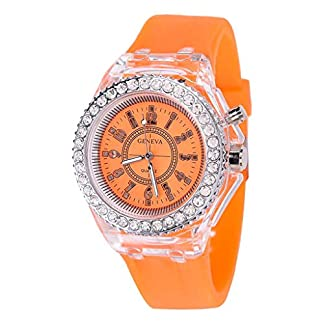 UINGKID-Damen-Armbanduhr-Analog-Quarz-Mode-Transparente-Neutral-Leuchtende-Weibliche-Silikonband-Sportuhr