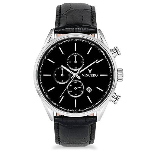 Vincero-Luxus-Chrono-S-Herren-Armbanduhr-43mm-Chronograph-Uhr-Japanisches-Quarz-Uhrwerk