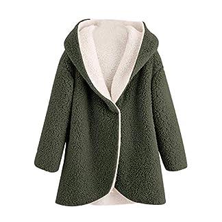 BaZhaHei-Damen-Fleecejacken-Einfarbig-warme-Jacke-Flauschige-Mantel-Fleece-Fell-Oberbekleidung-Sweatshirt-Mantel-Pullover-Damen-Mode-Elegant-Wunderschn-Streetwear-Freizeit-Party-Kleidung