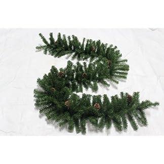 Weihnachts-Girlande-270-x-40-cm-mit-Tannenzapfen-verziert