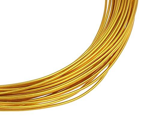 12m ALUMINIUMDRAHT GOLD 1mm SCHMUCKDRAHT BASTELN BIEGEDRAHT Aludraht METERWARE BASTELDRAHT PERLENDRAHT DEKODRAHT LACKDRAHT C107