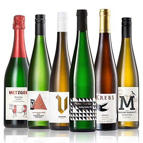 GEILE-WEINE-Weinpaket-RIESLING-6-x-075l-Deutscher-Weiwein-von-Winzern-der-Mosel-Saar-Rheinhessen-und-Pfalz