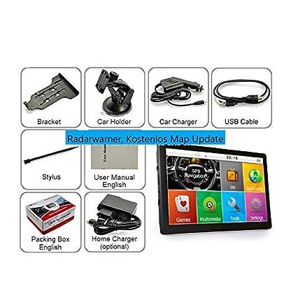 7-Zoll-Navigationsgert-Navi-Navigationssystem-DRIVE-TECH-fr-LKW-PKW-WOHNMOBIL-Camper-50-Lnder-Europas-Text-to-Speech-lebenslange-Kartenupdates-Fahrspurassistent-Kapazitiven-Touchscreen