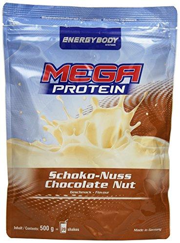 Energybody Mega Protein, Schoko-Nuss, 1er Pack (1 x 500 g Beutel)