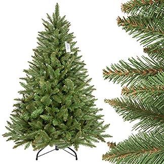 FairyTrees-knstlicher-Weihnachtsbaum-FICHTE-Natur-Material-PVC-inkl-Metallstnder-FT01-FT11