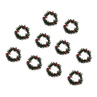 MagiDeal-10x-mini-Weihnachtskranz-Kranz-mi-Beere-Xmastree-Hngende-Verzierung-Weihnachten-Dekoration