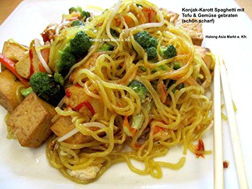 Shirataki dünne Spaghetti aus Konjakwurzelmehl & Karotten