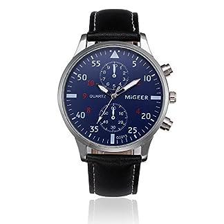 Lolamber-Armbanduhr-fr-Herren-Damen-Leder-Uhr-Armband-Mnner-Analog-Quarz-Geschfts-Klassisch-Analog-Quarz-Dnn-Armbanduhr-Gents-Luxus-Elegant-Schwarz-Uhr-mit-Blau-Zifferblat