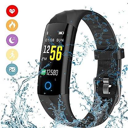 LIGE-Fitness-Trackers-Wasserdicht-Intelligentes-Armband-Farbdisplay-Outdoor-Sportarten-Watch-Pulsmesser-Schlafberwachung-Touchscreen-Schrittzhler-Mnner-Frau-Blau-Aktivitts-Tracker-for-AndroidiOS