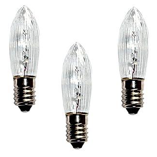 Topkerze-Riffelkerze-Spitzkerze-23-V-3W-3er-Set-Ersatzlampe-fr-10er-Schwibbogen-Lichterketten-Weihnachtsbeleuchtung-etc-fr-innen