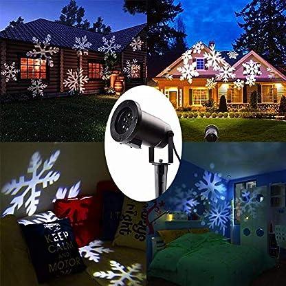 Light-Deal-IP67-LED-Projektionslampe-Schneeflocken-Muster-Strahler-fr-Weihnachten-Innen-und-Auen-Garten-BeleuchtungWei