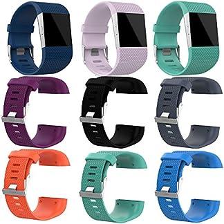 Hukz-SilikonbandGroe-Ersatz-Armband-Bandschliee-Schnalle-Tool-Kit-fr-Fitbit-SurgeBandlnge-160-220-mm
