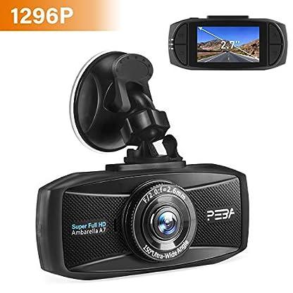Dashcam-Autokamera-1296p-mit-Nachtsicht-PEBA-Dash-Camera-Super-HD-Auto-DVR-Camcorder-27-Zoll-LCD-Bildschirm-WDR-Bewegungserkennung-Parkmonitor-Loop-Aufnahme-und-G-Sensor