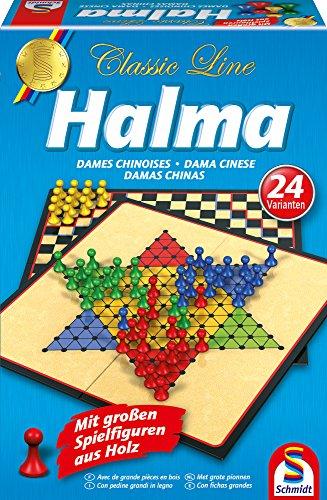 Schmidt-Spiele-49217-Classic-Line-Halma-mit-groen-Spielfiguren