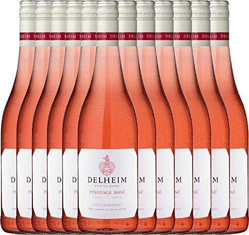 12er-Paket-Delheim-Pinotage-Ros-2018-Delheim-Roswein-sdafrikanischer-Sommerwein-aus-Coastal-Region-12-x-075-Liter