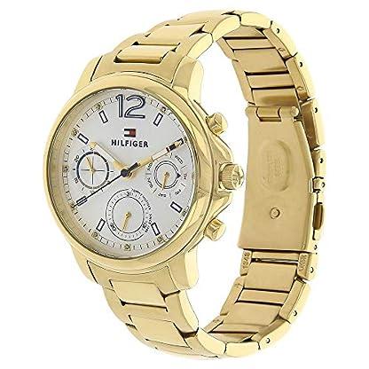 Tommy-Hilfiger-Damen-Analog-Quarz-Uhr-mit-beschichteten-Edelstahl-Armband-1781742