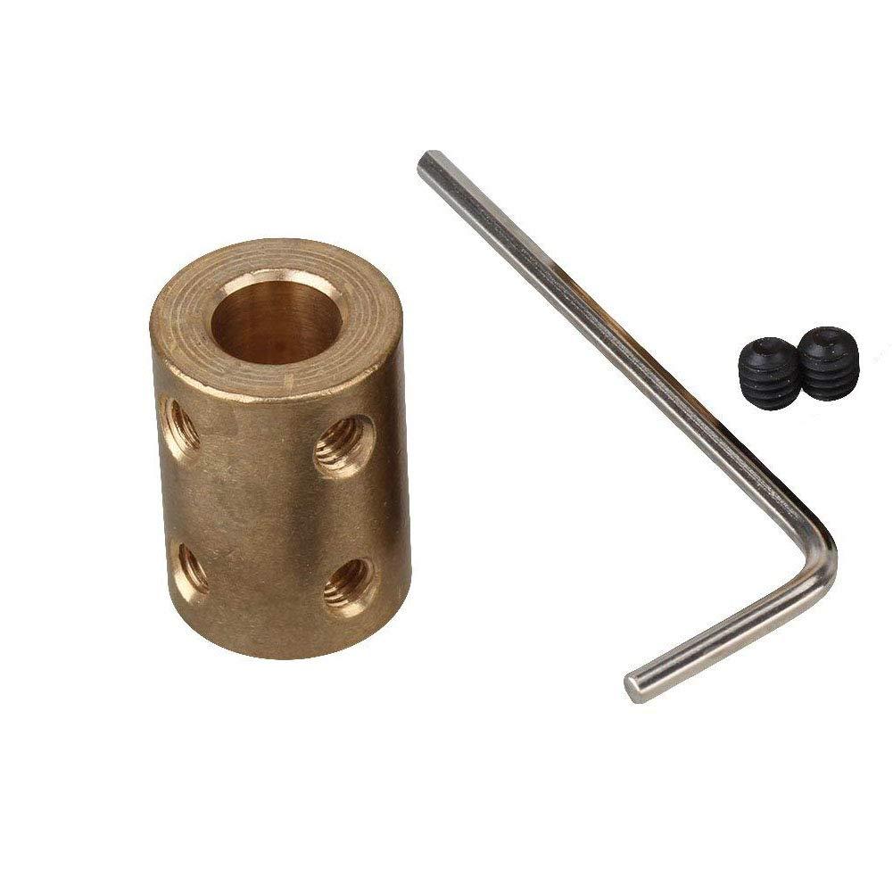 Motorwelle-starre-Messing-Hlsenkupplung-Verbinder-Schrauben-festziehen