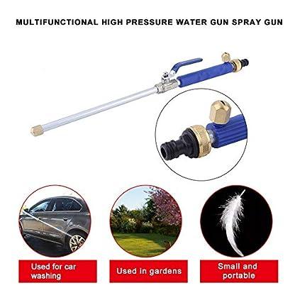 Hochdruck-Hochdruckreiniger-Spritzpistolenschlauch-Gartenautowaschen-Reinigungswasserdse-Sprhabstand-15-Meter-Blau-Silber
