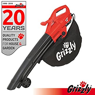 Grizzly-Elektro-3in1-Laubsauger-Laubblser-Hcksler-Leistung-2800-Watt-Blasgeschwindigkeit-270-kmh-groe-Rder-mit-Fangsack-und-Tragegurt
