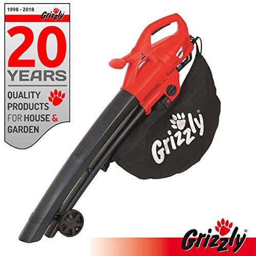 Grizzly-Elektro-3in1-Laubsauger-Laubblser-Hcksler-EL-2800-Blasgeschwindigkeit-270-kmh-2800-Watt-groe-Rder-mit-Fangsack-und-Tragegurt