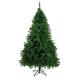 Seekavan-Knstlicher-Weihnachtsbaum-Hochwertiger-Tannenbaum-Christbaum-mit-Metallstnder-Tannenzapfen-Material-PVC-150180210240cm-GrnWei-Innen-und-Auenbereich