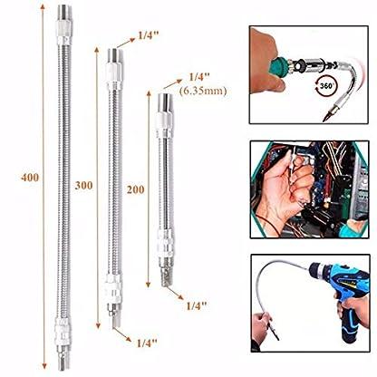 Doolland-14-Zoll-Sechskant-Metall-Flexible-Biegeschaft-Verlngerung-Bar-Schraubendreher-Teile