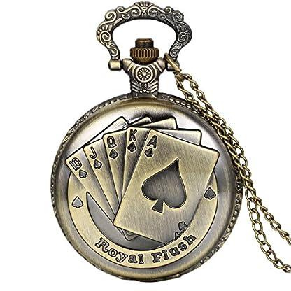 JewelryWe-Vintage-Taschenuhr-Herren-Analog-Quarz-Uhr-mit-Halskette-Kette-Kettenuhr-Pocket-Watch-Vatertag-Geschenk-Royal-Flush-Poker-Spielkarten