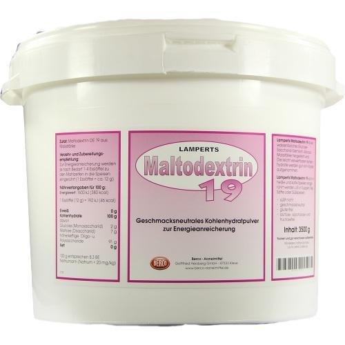 Lamperts Maltodextrin 19, 3500 g Pulver
