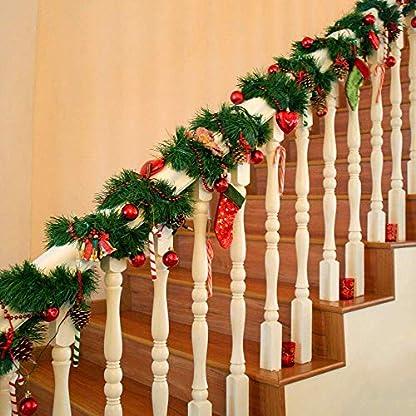 LSKY-Girlande-fr-Weihnachten-unbeleuchtet-knstliche-Tannengirlande-Grn-fr-Urlaub-Hochzeit-Party-Dekoration-drinnen-und-drauen