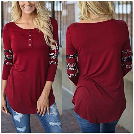Damen-Langarmshirt-iHee-Frauen-O-Ausschnitt-Langrmeliges-Lose-Bluse-Casual-Shirt-Sommer-Tops-T-Shirt