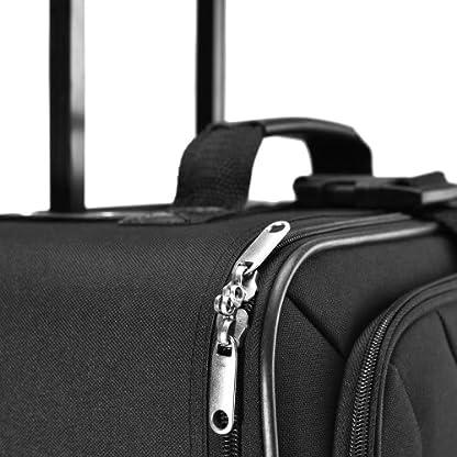 Deuba-Trolley-Kofferset-Komplettes-Business-Set-Black-Edition-Netzfach-Rollen-Teleskopgriff-Koffer-Reisetaschen-schwarz