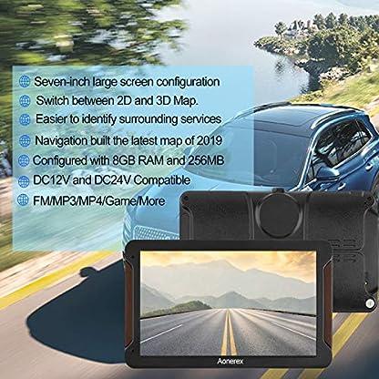 Aonerex-Navigationsgert-7-Zoll-Touchscreen-GPS-Navi-8GB-Navigation-fr-Auto-LKW-PKW-KFZ-Navigationsystem-mit-Lebenslang-Kostenloses-Kartenupdate-Blitzerwarnung-Sprachfhrung-2019-Europa-UK-52-Karten