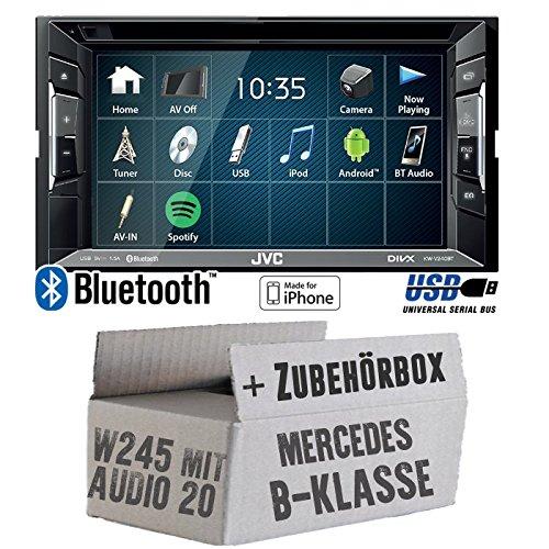 Autoradio-Radio-JVC-KW-V240BT-DVD-Bluetooth-MP3-USB-Einbauzubehr-Einbause-fr-Mercedes-B-JUST-SOUND-best-choice-for-caraudio