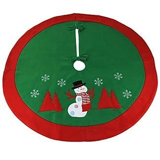 WEWILL-Weihnachtsbaum-Rock-Kreis-Dekoration-Weihnachts-Szene-Schneemann-Baum-Rock-brandmarken
