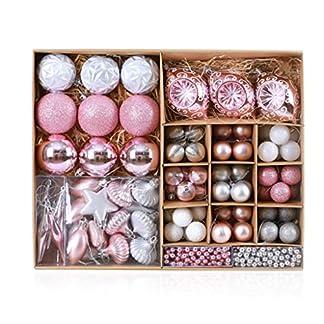 YHNUJMIK-Weihnachtsdekoration-Ball-Weihnachtsbaum-Anhnger-Ball-Gesetzt-Kunststoff-Hngende-Geformte-Kugel-Weihnachtsschmuck-Hochzeitsdekoration-90-Packungen