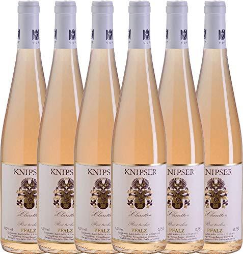 6er-Paket-Clarette-Ros-2017-Knipser-trockener-Roswein-deutscher-Sommerwein-aus-der-Pfalz-6-x-075-Liter