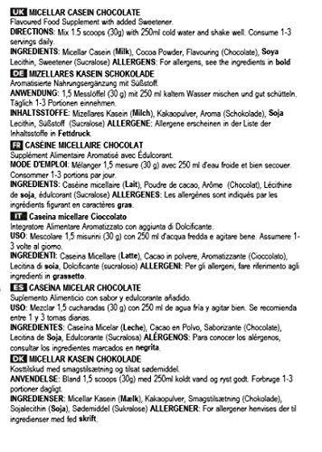 Bulk Powders Mizellares Kasein – 90% Proteinanteil-Schokolade, 500 g