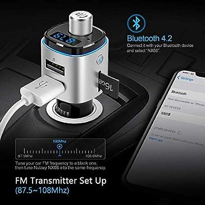 FM-Transmitter-NULAXY-FM-Auto-Bluetooth-7-Farbe-LED-Backlit-W-QC30-untersttzt-USB-DriveTF-KarteHandsfrei-SprechenAktivieren-SiriGoogle-jetztNX09