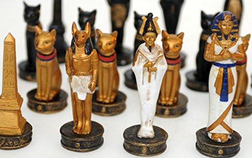 ArsBavaria-Schachfiguren-gypten-Schach-Tutenchamun-Pharao-Handbemalt-Neu