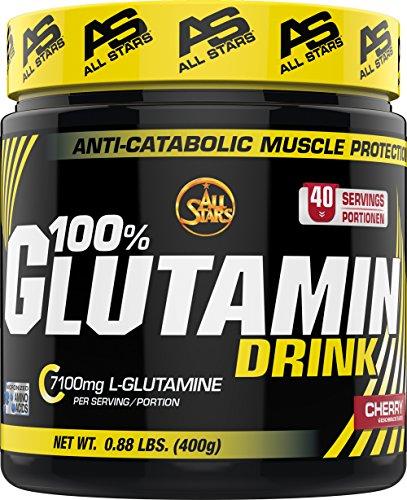 All Stars 100% Glutamin Drink, Kirsche, 1er Pack (1 x 400 g)