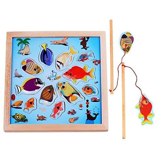 Lewo-Magnetisches-Holzpuzzles-Angeln-Spielzeug-fr-3-4-5-Jhrige-Kind-Baby-Kleinkind-Jungen-Mdchen-Magnet-Spielzeug-mit-11-Fischen-und-2-Magnetpol