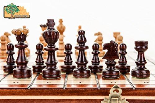 EINZIGARTIGE-gro-37cm146-In-Handarbeit-aus-Holz-Schach-Set-Sweet-Cherry-Tree
