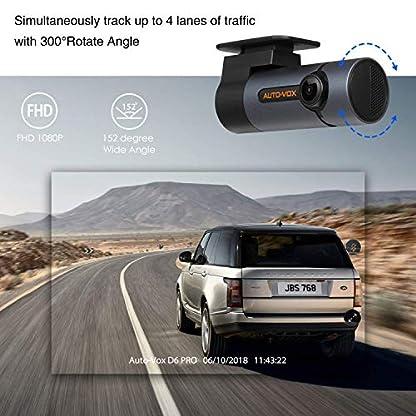 AUTO-VOX-D6-Pro-Auto-Kamera-WiFi-DashCam-FHD-1080P-DVR-RekorderUnauffllige-Dash-Cam300Bewegliches-Objektiv-Nachtsicht-G-Sensor-WDR-Loop-Aufnahme-Parkmonitor-