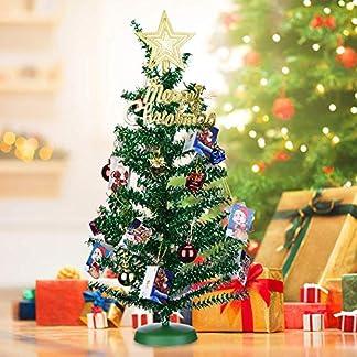 KEY-NICE-Knstlicher-Weihnachtsbaum-Tannenbaum-Christbaum-45cm-Geschmckter-Baum-mit-20-Stcke-Baumschmuck-fr-Weihnachten-Partei-Hauptdekoration